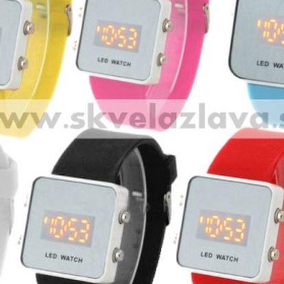 Zrkadlové unisex LED hodinky v šiestich farbách za 6,50 € aj s poštovným.