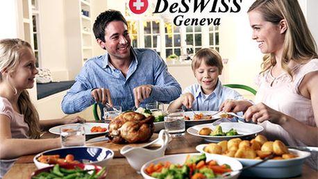 Len 29,90 € za 24-dielnu sadu kvalitných príborov DeSWISS! Stolujte so štýlom a eleganciou s elegantnou sadou príborov!