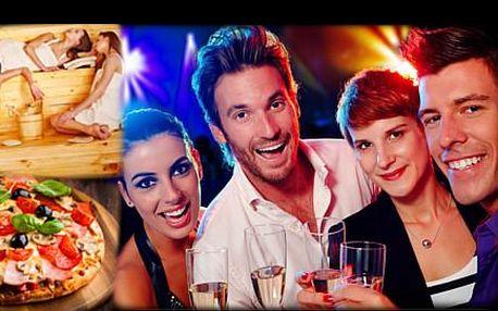 Prožijte DOKONALÝ VEČER PLNÝ RELAXACE, luxusního jídla a pití srodinou či přáteli. SAUNA, slavné EXOTICKÉ KOKTEJLY - Tequila Sunrise, Piňa Colada, Cuba Libre, Daiquiri, Sex on the beach, a k tomu pro každého PIZZU. Severská půlnoc až pro 10 osob ze čtvrtka na pátek za krásných 695 Kč na osobu.