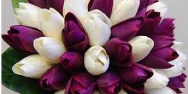 Valentýnská kytice z tulipánů
