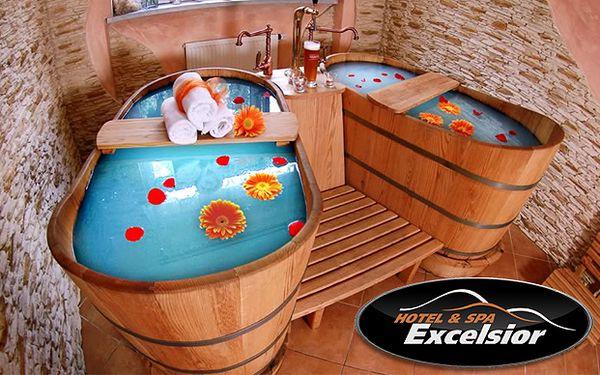 Víkendový pobyt pre dve osoby v horskom hoteli Excelsior v prostredí Moravskosliezskych Beskýd za 153 €. Ubytovanie, polpenzia, pivné alebo vínne kúpele, bowling, neobmedzený vstup do bazénu, sauny a vírivky a 20% zľava na kúpeľné procedúry a skipasy