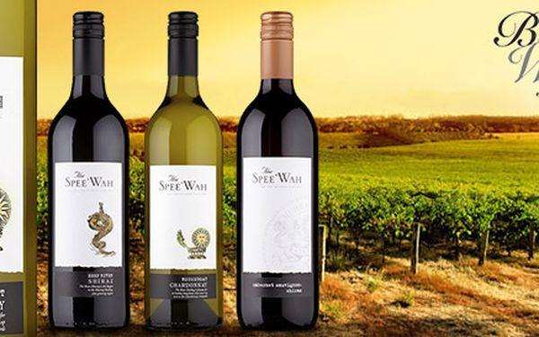 Šest lahví australského vína