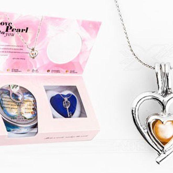 PERLA PŘÁNÍ - jedinečný tvar SRDCE!! Nádherný náhrdelník s přívěškem!! Vyjádři své pocity obdarovanému!!
