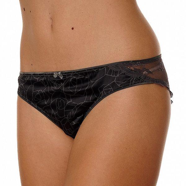 Dámske čierne nohavičky Calvin Klein s potlačou