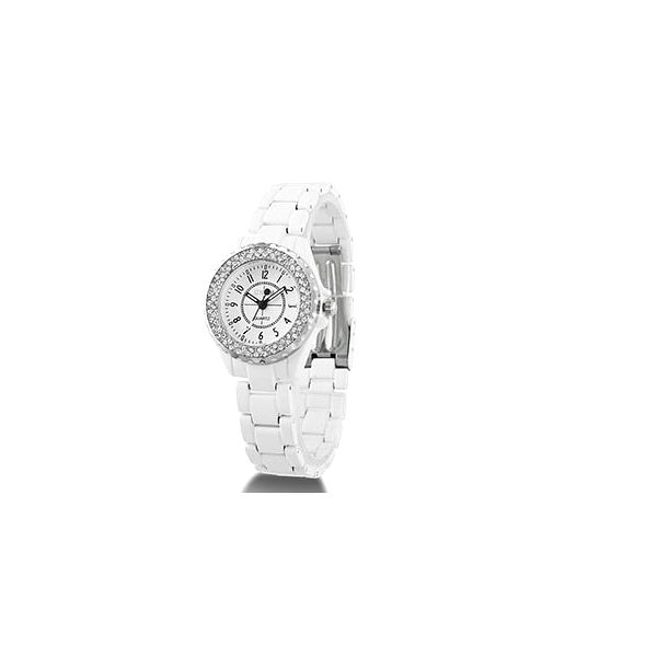 Biele hodinky s kamienkami a kovovým náramkom len za 15,50 € s poštovným