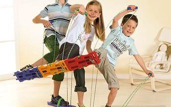 """Pohyblivé lyže. Lyžařská sada pro podporu motoriky. 3 páry """"lyží"""" v sadě."""