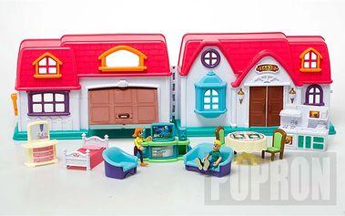 Domeček pro panenky + nábytek. Nadchne každou malou holčičku.