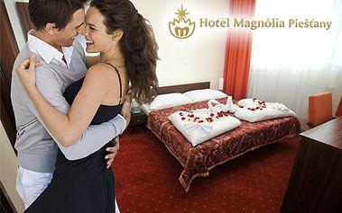 Len 118 € za 3-dňový WELLNESS pobyt pre 2 osoby v srdci Piešťan! V cene aj raňajky, romantická 3-chodová večera pri sviečkach, valentínska zábava, vstup do sauny a mnoho ďalšieho!