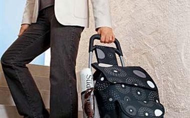 Nákupní taška se třemi kolečky. 3 kolečkové mechaniky na hrany a schody.