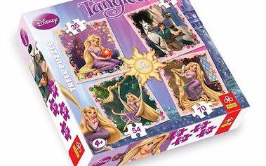 """Puzzle s motivy Disneyho filmu """"Na vlásku""""! Složte si krásnou Lociku. Kvalita značky Trefl."""