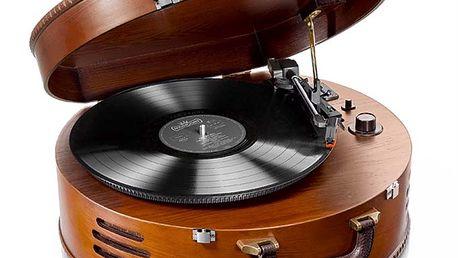 """Gramofon s USB """"Nostalgie"""". Není nad to lehké zapraskání a křišťálový zvuk."""