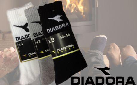 9 párů ponožek Diadora za 199 Kč! Šedé, černé a bílé!