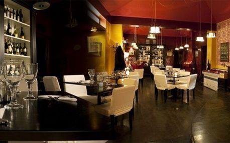 Valentýnské menu pro 2 osoby v luxusní restauraci v centru prahy!