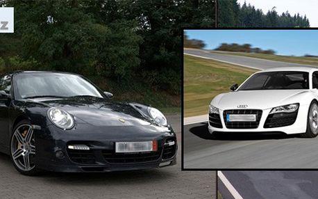 Jízda v Porsche 911 Turbo a Audi R8! Nyní i na Moravě!