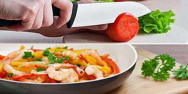 Sada profesionálnych keramických nožov len za 26,90€ alebo profesionálna BIO keramická panvica pre chutné, rýchle a predovšetkým zdravé varenie už za 18,99€.