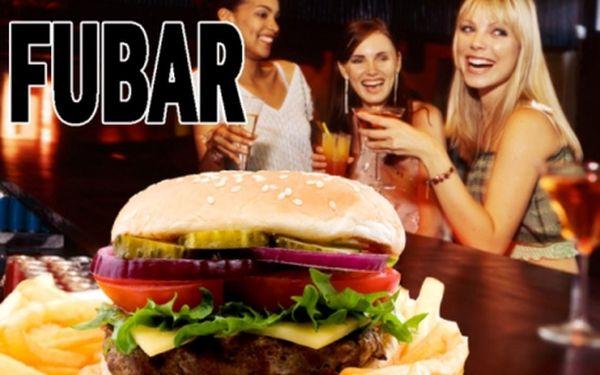 VEŠKERÁ JÍDLA A KOKTEJLY v FUBARu! Burgery, burritos, křidýlka, fajitas a další domácí pochoutky které výborně doplní desítky koktejlů!