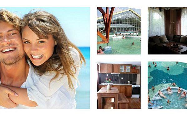 Prodloužený víkend v termálním městě Velký Meder. Relaxujte s dětmi či známými. Luxusní ubytování až pro 8 osob!