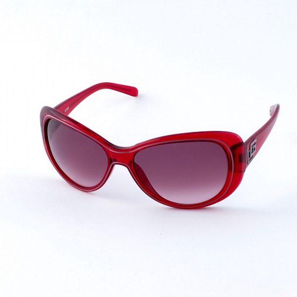 Dámské sytě červené sluneční brýle Guess