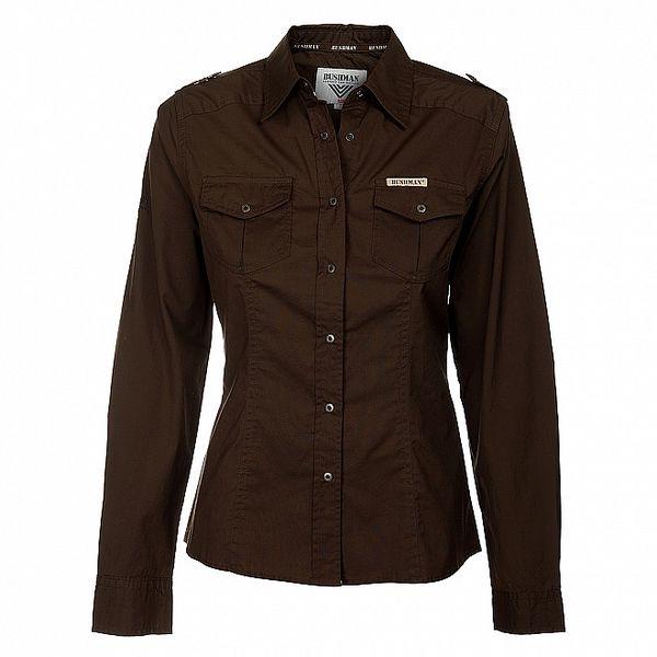 Dámska tmavo hnedá košeľa Bushman