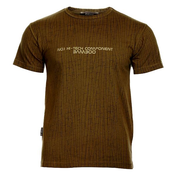 Pánské šedozelené tričko Bushman s motivem bambusu