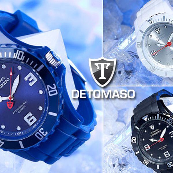 Trendové značkové hodinky DETOMASO teraz len za 39,90 €. Potešte seba či svojho blízkeho štýlovým darčekom so zľavou 39%.