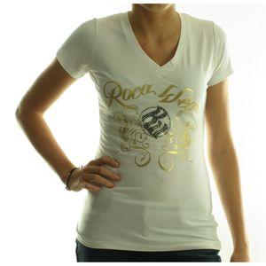 Dámské tričko Rocawear bílé se zlatým