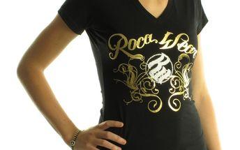 Dámské tričko Rocawear černé se zlatým