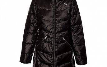 Dámský černý péřový kabát Puma