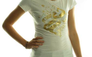 Dámské tričko Rocawear bílé zlatý potisk