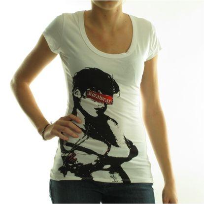 Dámské tričko Rocawear bílé černý potisk