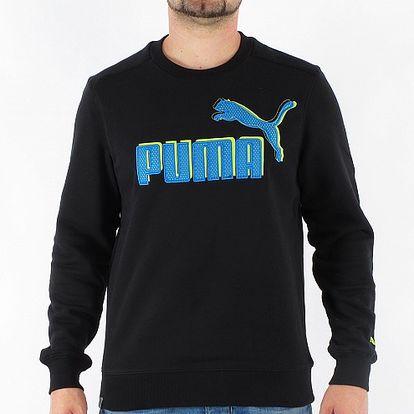 Pánska čierna mikina Puma s velkým logom
