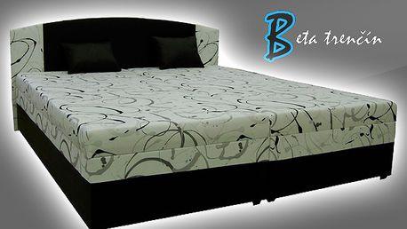Luxusné manželské postele KAPPA vyrobené na Slovensku. Moderné prevedenie, zdravotný matrac, úložný priestor.