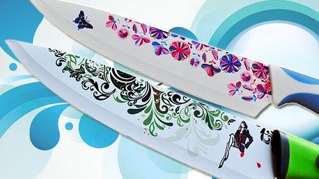 Päťdielna sada dizajnových nožov s nepriľnavým povrchom len za 19,90 € namiesto pôvodných 49,70 € v troch farebných prevedeniach. Unikátne farebne ladené nože so vzorom, ktoré nesmú chýbať vo vašej kuchyni.