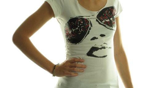 Dámské tričko Rocawear bílé černý obrázek