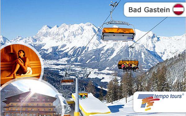 860 km sjezdovek v Bad Gastein. 4 dny na lyžích a 4* hotel.