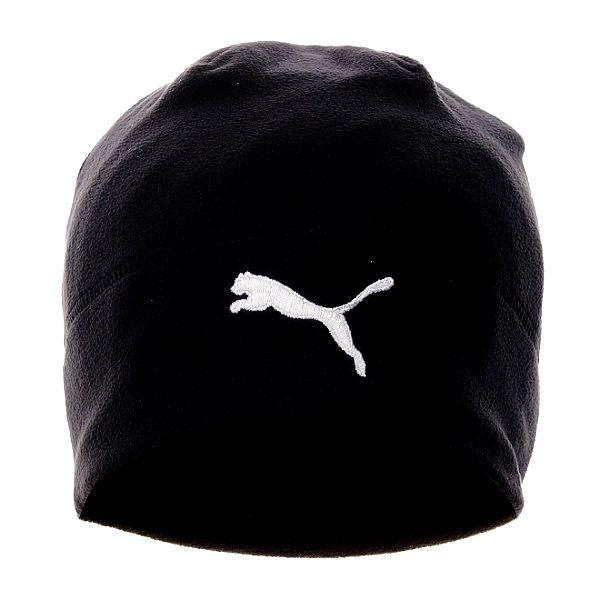 Černá fleecová čepice Puma