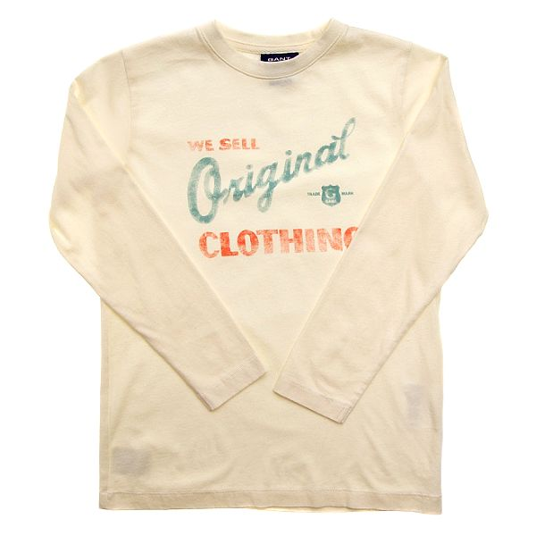 Detské krémové tričko Gant s potlačou