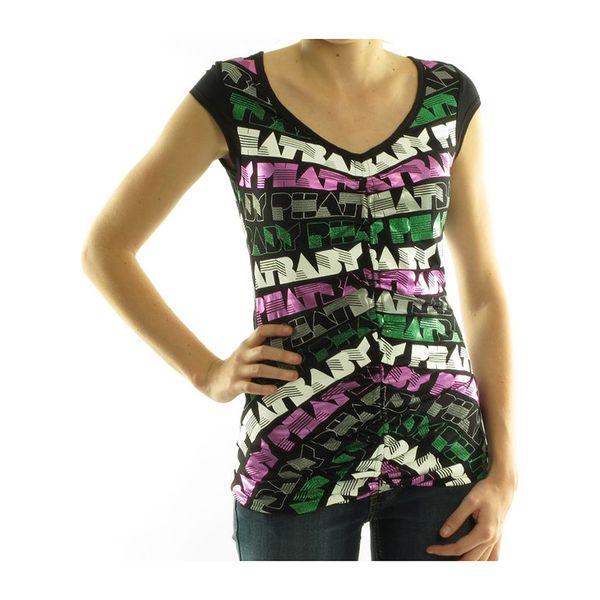 Dámské tričko Baby Phat černé barevný potisk