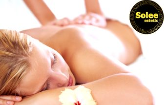30 alebo 50-minútová masáž už od 5,90 €! Načerpajte nové sily, užite si relax a odstráňte bolesti chrbta a stuhnutých svalov v príjemnom prostredí SOLEE ESTETIC!