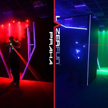 12 minut adrenalinové Laser Game jen za 69 Kč!