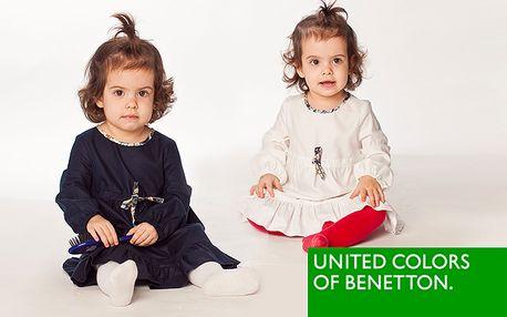 Značkové šaty United Colors of Benetton pre dievčatká na každú príležitosť len za 24,99 €. Pre malé slečny, ktoré chcú byť štýlové.