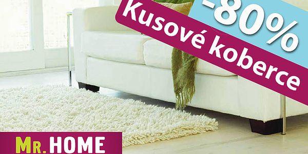 80% zľava na akýkoľvek kusový koberec z ponuky predajne a e-shopu Mr. Home. Len za kupón v cene 3,90 € výber zo širokej ponuky za pätinovú cenu.