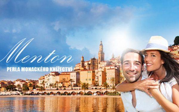 Zájezd do Mentonu - perly Monackého knížectví! V ceně 3 490 Kč je zahrnuta doprava, 1x ubytování se snídaní, prohlídka města + prohlídka Monte Carla, návštěva karnevalu a festivalu citrusů se stoletou tradicí!