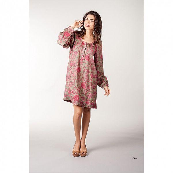 Růžovozelené šaty CurioCity