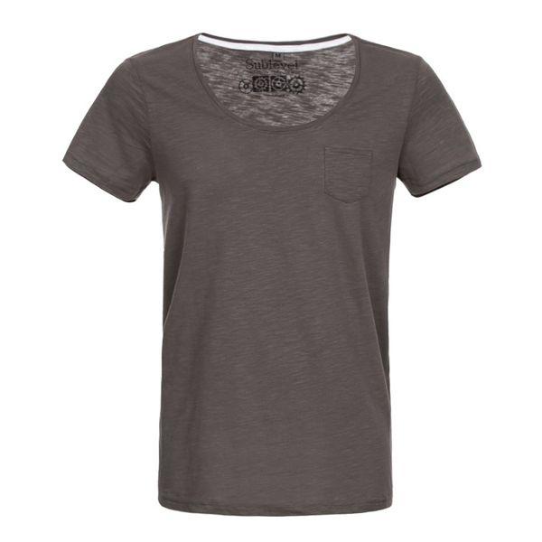 Pánské tričko Sublevel šedo-hnědé