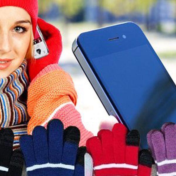 Speciální rukavice pro dotykové telefony