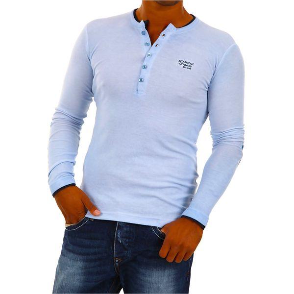Pánské triko Redbridge světle modré dlouhý rukáv