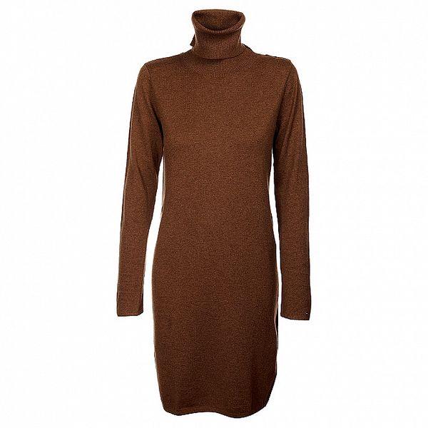 Hnědé rolákové šaty Tommy Hilfiger