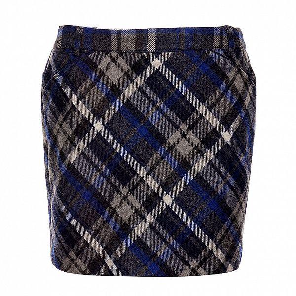 Modrá károvaná sukně Tommy Hilfiger