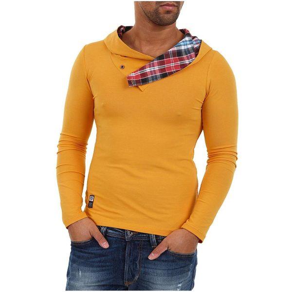 Pánské triko s kapucí Carisma žluto-oranžové